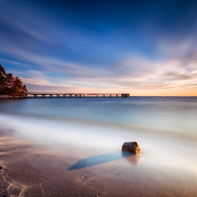 waking before the roosters by Edward Kreis - Landscapes Waterscapes ( rgnd, chesapeake bay, neutral density, big stopper, singh ray, pasadena, my favorite filter stack, 168 seconds, dawn, downs park, maryland, long exposure, sunrise, daryl benson 4 stop, filters )
