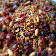 Chunky Chewy Fruit and Nut Granola