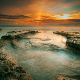mengejar surga mu by Happybubble Gum - Landscapes Beaches ( #landscape #longexposure #beach #sunset #colour )