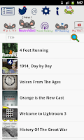 Screenshot of Ratpoison Podcast player