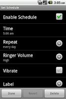 Screenshot of Ringer Schedule