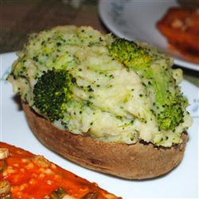 Parmesan and Broccoli Stuffed Potatoes