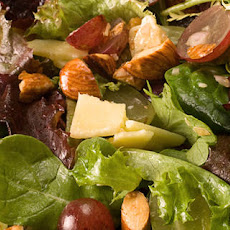 Grape and Almond Mixed Greens Salad