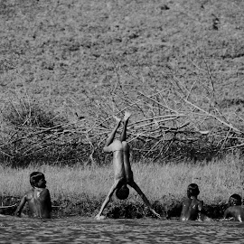 unique by Sumit Ahire - Sports & Fitness Swimming ( holiday, enjoyment, happy, art, india, nikon, light, photography, energy, swimming, river )