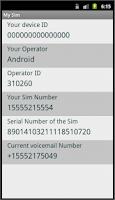 Screenshot of My Sim - Sim Info Retriever