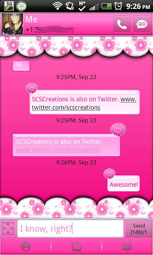 GO SMS - Pastel Flowers