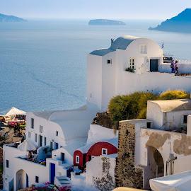 Oia village by Murat Besbudak - Landscapes Travel ( cruising, aegean sea, greece, oia, santorini )