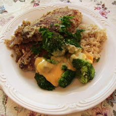 Schnitzel-Style Chicken and Broccoli in White Wine Sauce