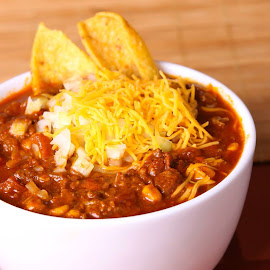 Award winning chili  by Jere Witter - Food & Drink Plated Food