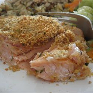 Baked Salmon with Crispy Crumb Crust