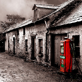 Last Stop For Gas by Sean Laffey - Buildings & Architecture Decaying & Abandoned ( ireland, limerick, gas pump, old gas station, rural ireland )