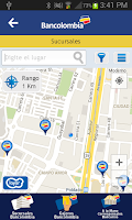 Screenshot of Bancolombia App