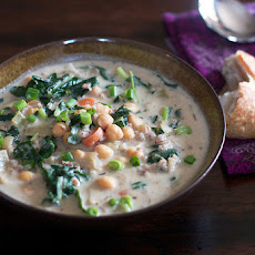 Chickpea & Rice Soup With A Little Kale