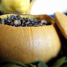 Baked Pumpkins with Wild Rice Stuffing