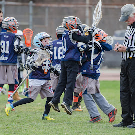 celebrating overtime win  by Keith Kijowski - Sports & Fitness Lacrosse ( turkey shoot out fca lacrosse 2021 roc 2014 ithaca, ny )