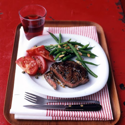 Rib Eye with Garlic-Thyme Marinade