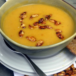 Roasted Pumpkin Soup with Cumin and Coconut Milk
