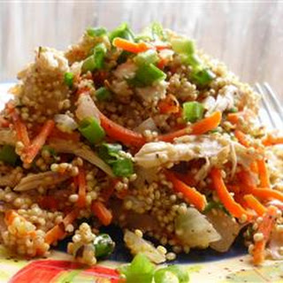 Quinoa Pilaf with Shredded Chicken