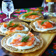Russian Pancakes with Gravlax
