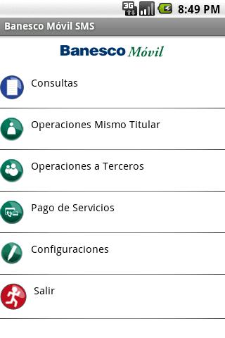 BanescoMóvil SMS