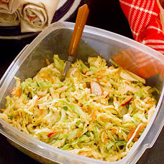 Confetti Slaw with Spicy Peanut Dressing