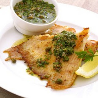 Fried Skate Wings with Warm Green Salsa