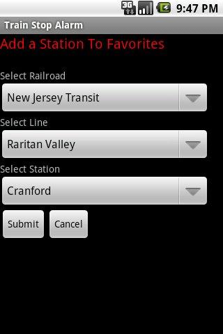 Train Stop Alarm