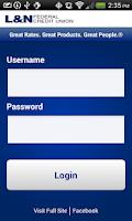 Screenshot of L&N FCU Mobile Banking