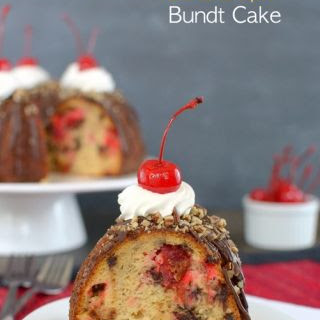 Banana Split Bundt Cake