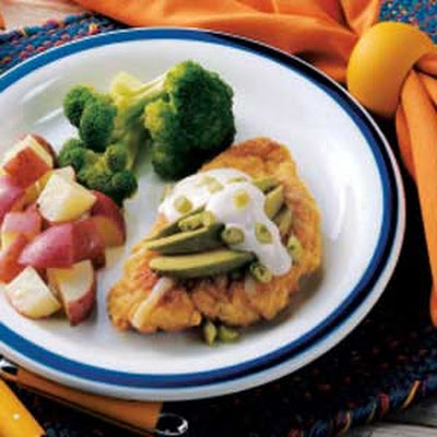 Breaded Chicken with Avocado