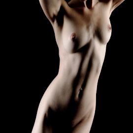 Shadows by Vineet Johri - Nudes & Boudoir Artistic Nude ( vkumar photography, hele diaz, beautiful figure, studio art nude shoot, art nude photography, curves, shadows )