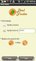 Screenshot of Deal Finder
