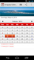 Screenshot of Uruguay Calendario