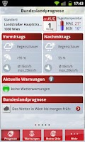 Screenshot of WetterService