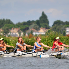 Rowers training on the river Thames,Port Meadow,Oxford by Tony Steele - Sports & Fitness Other Sports ( rowing )