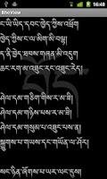 Screenshot of MonlamBodyig Tibetan Font