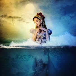 Queen of the sea by Armed Armedia - Digital Art People ( fantasy, digital art, dark, sea, manipulation )