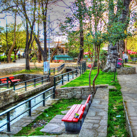 A park by Stratos Lales - City,  Street & Park  City Parks ( water, stream, park, trees, flowers )