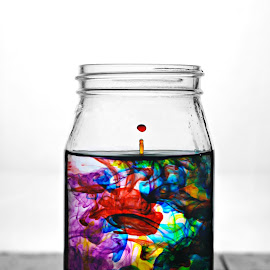 Food Coloring by Harlie Marie Dale - Artistic Objects Glass ( water, drop, still life, food coloring, glass,  )