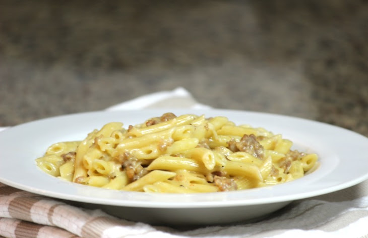 Penne with Sausage and Fennel Alfredo Sauce Recept | Yummly
