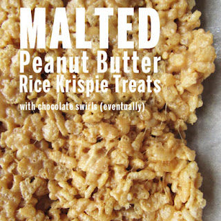 Malted Peanut Butter Rice Krispie Treats