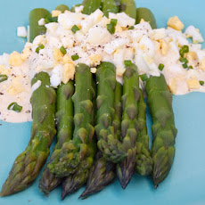 Serious Salads: Asparagus with Dijon Mustard Sauce and Chopped Hard Boiled Egg