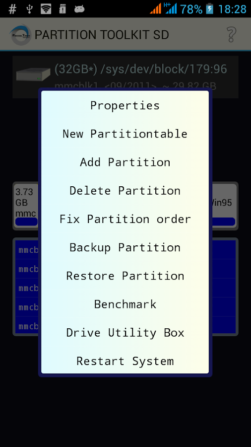 ROEHSOFT PARTITION TOOL SD-USB Screenshot 2