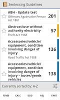 Screenshot of Sentencing Guidelines