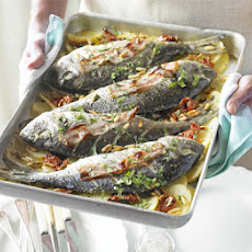 Baked Sea Bream With Tomatoes & Coriander