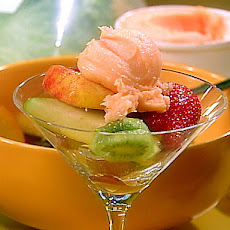 Fruit Salad with Orange Liqueur and Sorbet