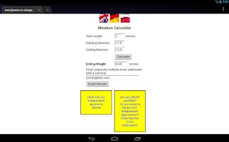 Screenshot of Grain Moisture app