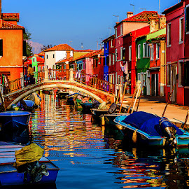 by Adeline Tan - Buildings & Architecture Homes ( colourful, burano, homes, italy, island, , water, device, transportation )