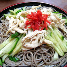 Soy Chicken and Green Tea Noodle Salad