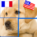 PuzzleAnimals: English-French icon